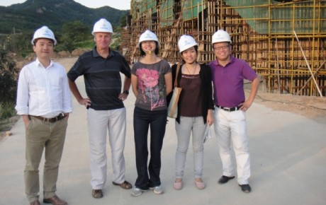 Four large scale projects on site in China
