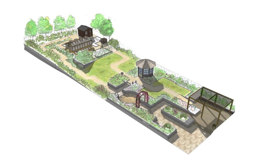 Landsacpe Residential Sensory Garden Perspective Sketch
