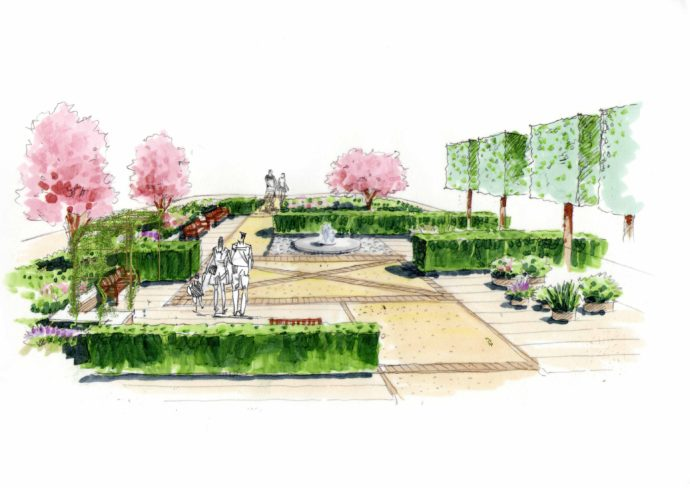 Barnsley hospital weddle landscape design for Arid garden design 7 little words