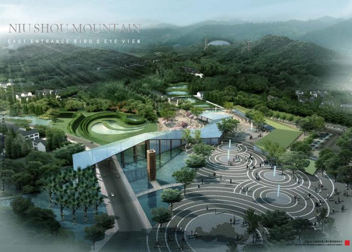 Niushou buddist mountain weddle landscape design for Mountain designs garden city